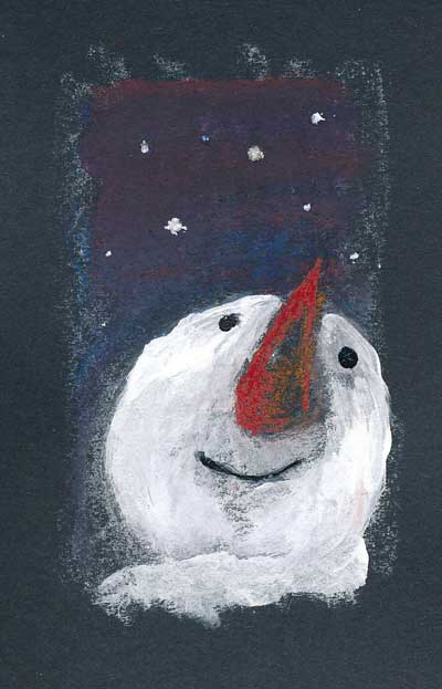 Reflective Snowman